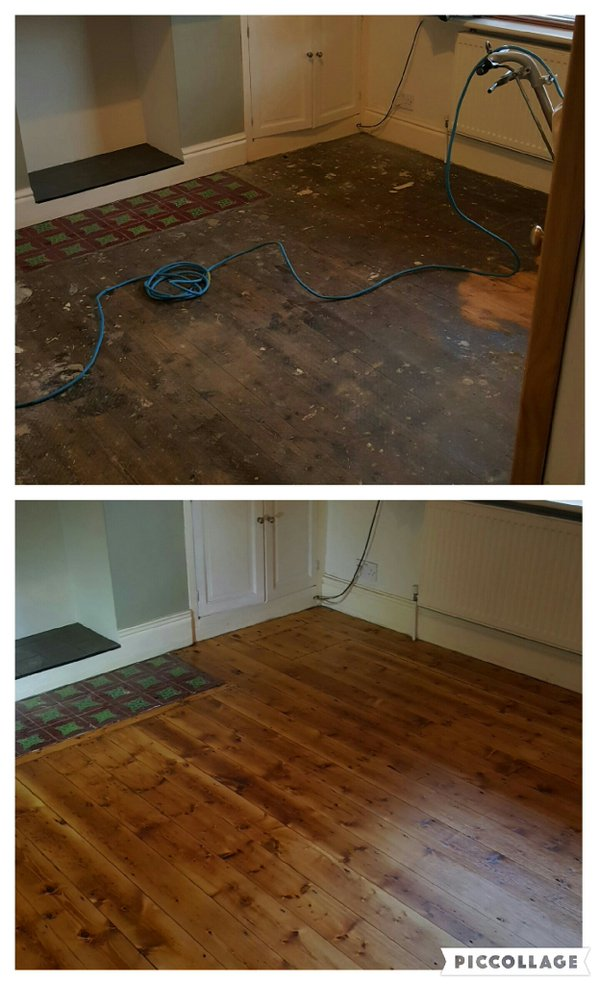 Floor Sanding in Levenshulme (before and after)