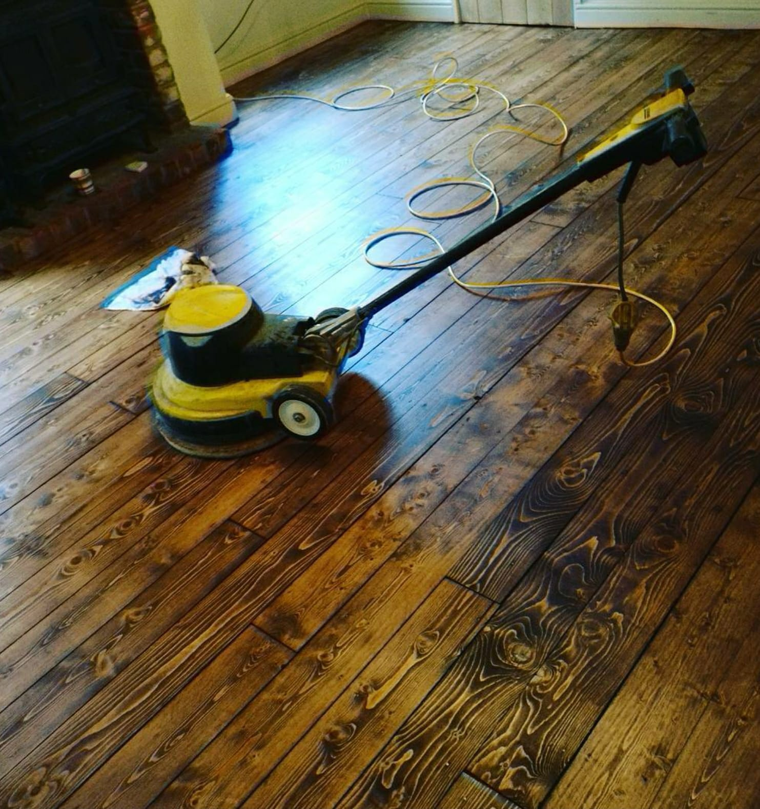 Floor Sanding with a dark finish