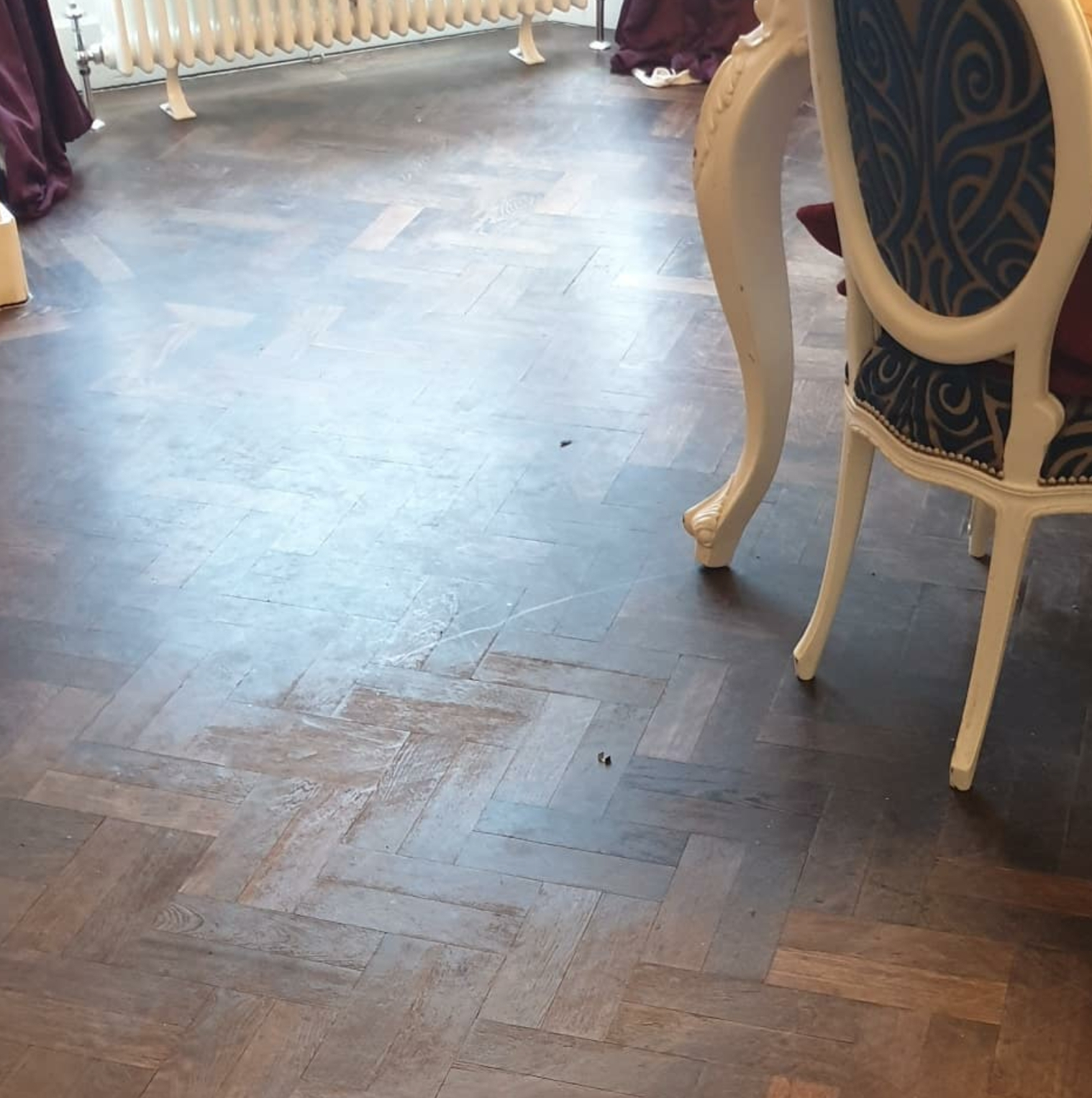 Parquet Floor Restoration Before